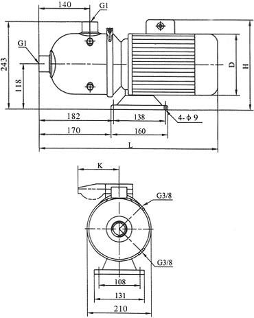 不锈钢卧式轻型多级离心泵CHL型,不锈钢卧式轻型