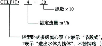 CHLF型不锈钢轻型分段式多级泵(图1)